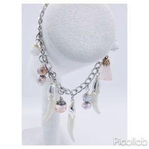 Coyote Claw and Rose Quartz Bracelet